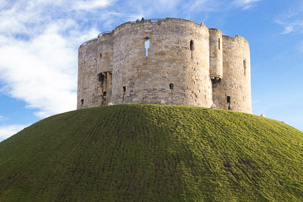 Close up view of Cliffords tower.