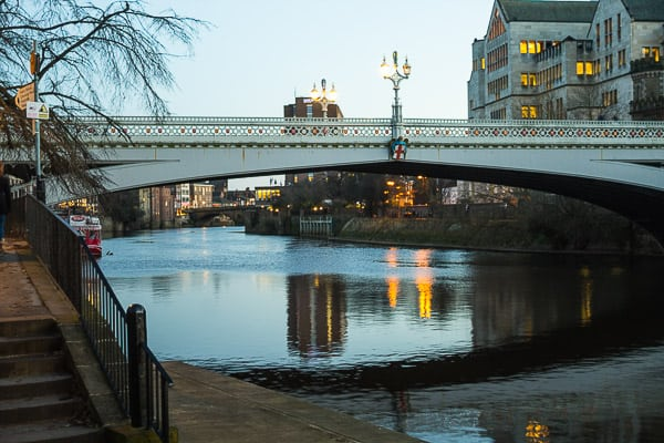View of another bridge over the river Ouse, York.