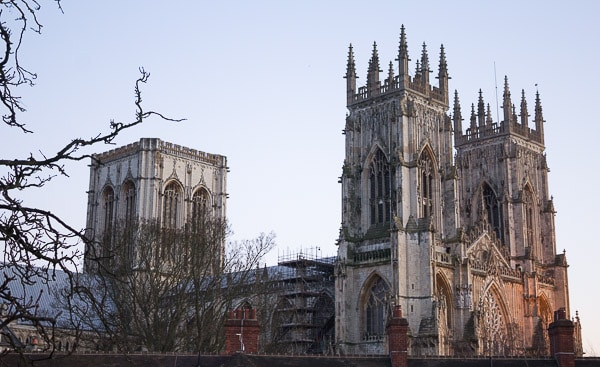A landscape view of York Minster.