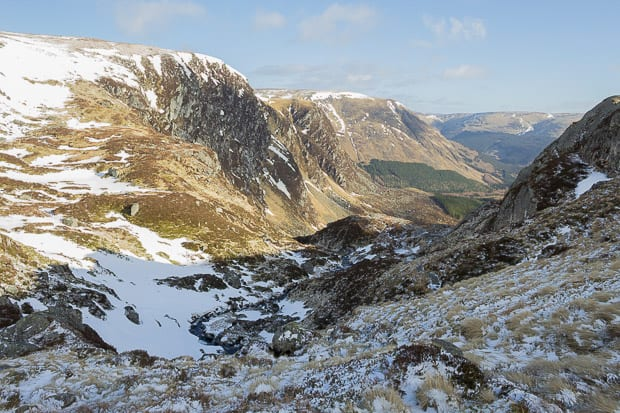 Looking back from the summit of Corrie Fee.