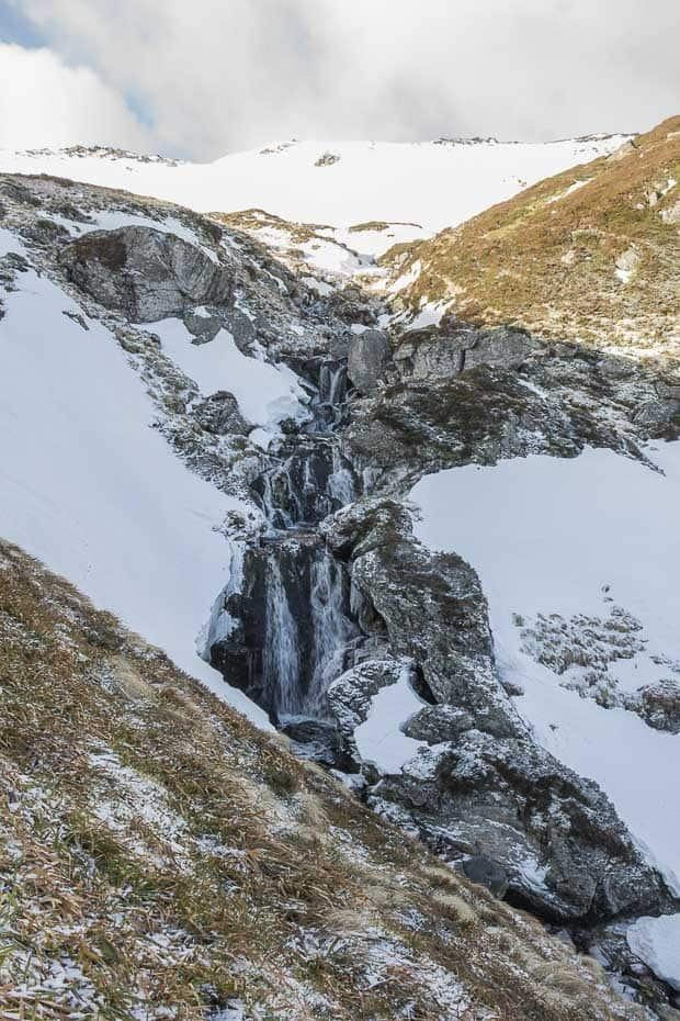 Waterfall at the top of Corrie Fee.