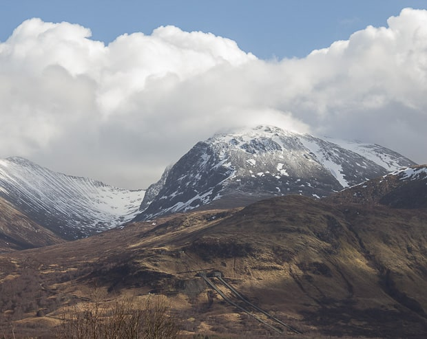 Ben Nevis in the clouds