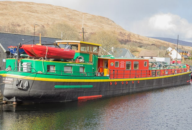 Picture of boat for hire on the Caledonian Canal.