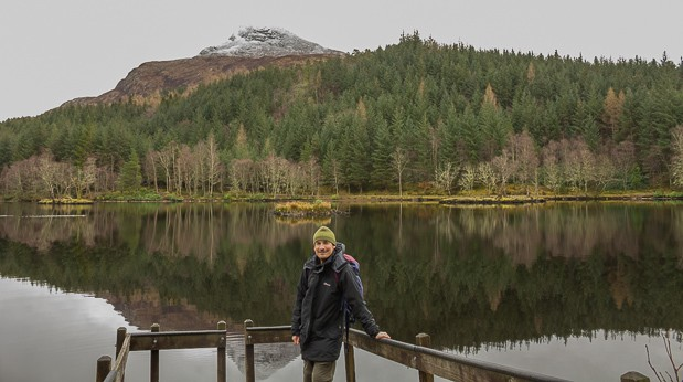 Neil Lockier with Lochan in the background.