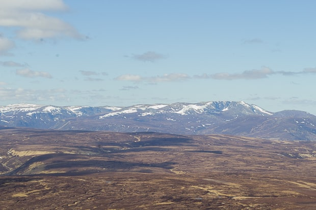View from the summit of Mount Keen.