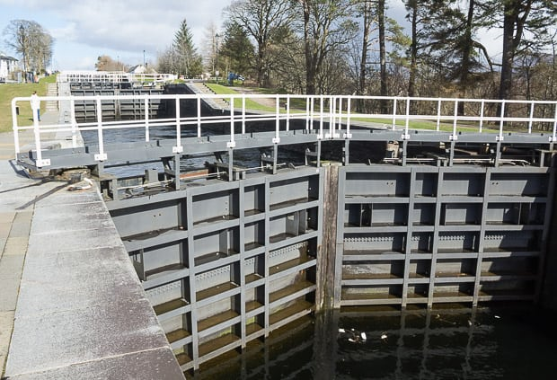 The lock gates of Neptunes Staircase near Fort William.