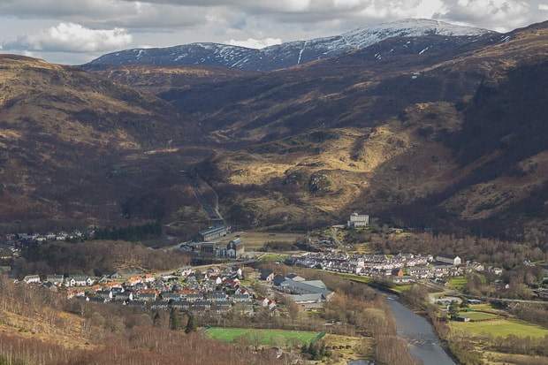 View down from top of decent to Kinlochleven
