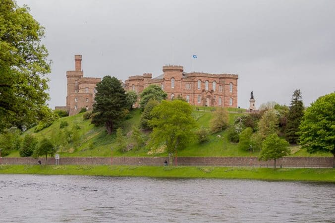 Inverness Castle with the River Ness in the foreground.