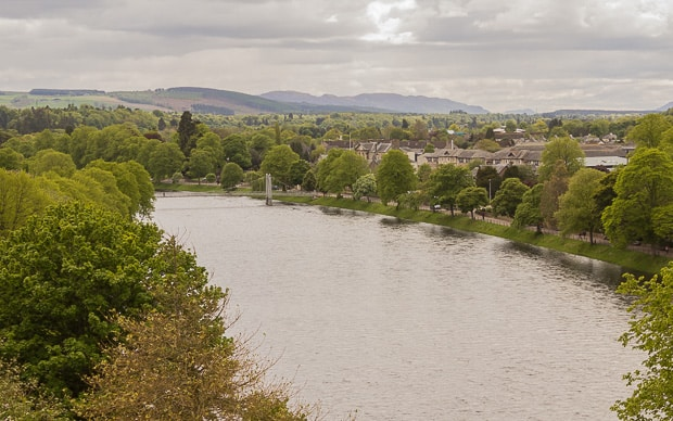 View south over River Ness from Inverness Castle.