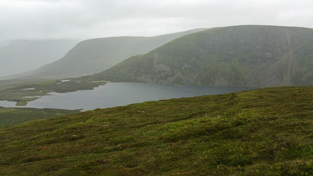 View of Loch Brandy from the hill path.