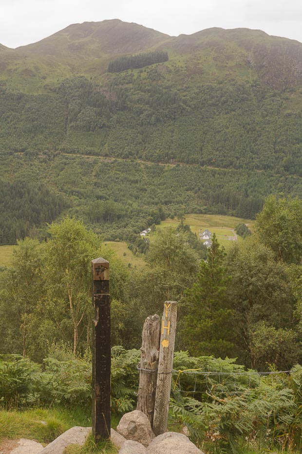 Pathway down to Youth Hostel from Ben Nevis path.