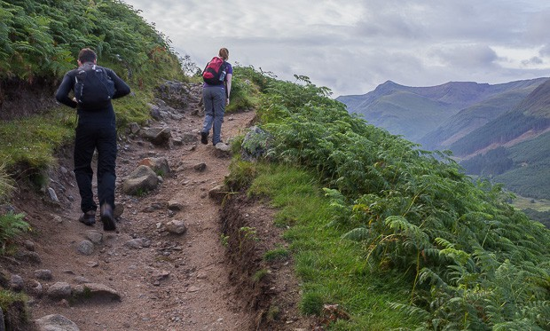 Liam and Lynne on the Ben Nevis Path.