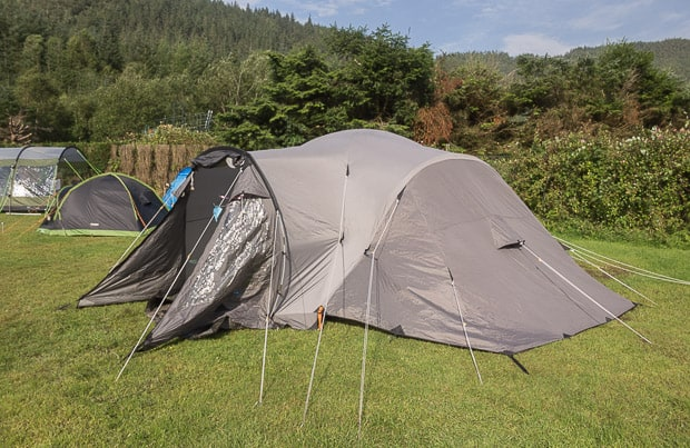 Our tent pitched at Glen Nevis Campsite.