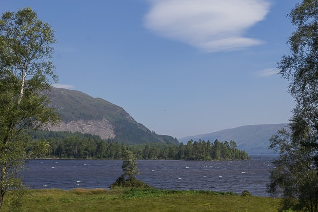 View from Achnacarry over Loch Lochy.