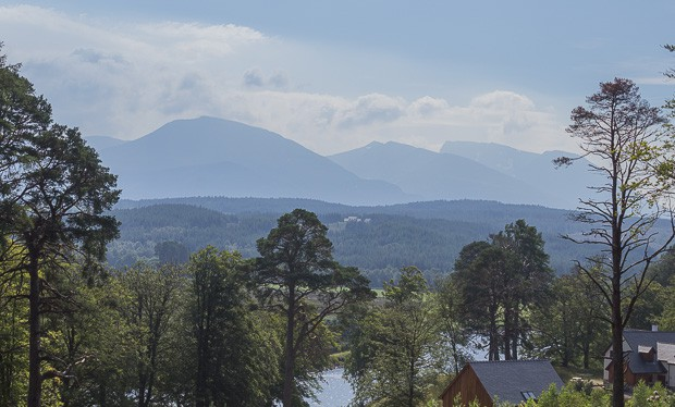 View from Achnacarry of Ben Nevis.