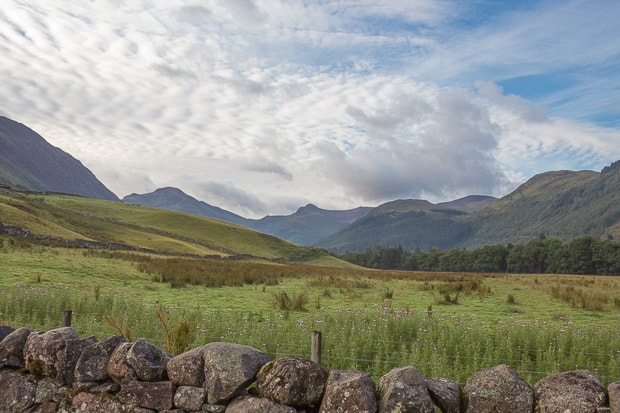 View of the Mamore Mountains from the Ben Nevis path.