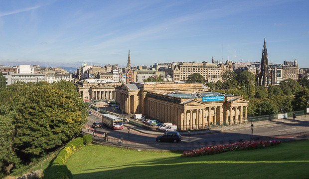 View of the Scottish National Gallery.