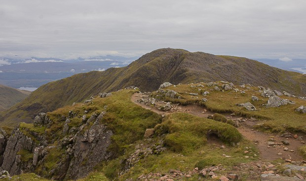 View of Meall Cuanail from near Ben Cruachan summit.