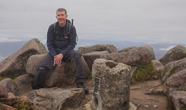 Mike at the summit of Ben Cruachan.