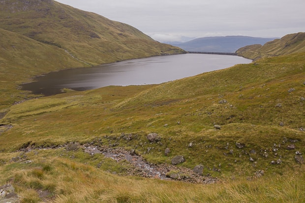 Looking East back over the Cruachan Reservoir.