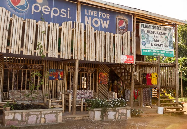 View of outside a coffee shop at The Equator. Uganda.