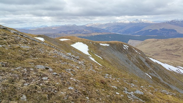 Ben Lawers mountain range in the distance.