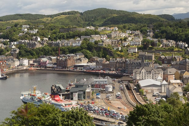 Views of Oban Bay from Pulpit Hill