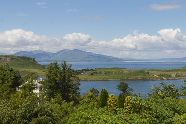 View Of Mull from Pulpit Hill Oban.