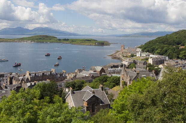 Views Of Oban Harbour from McCaigs Tower