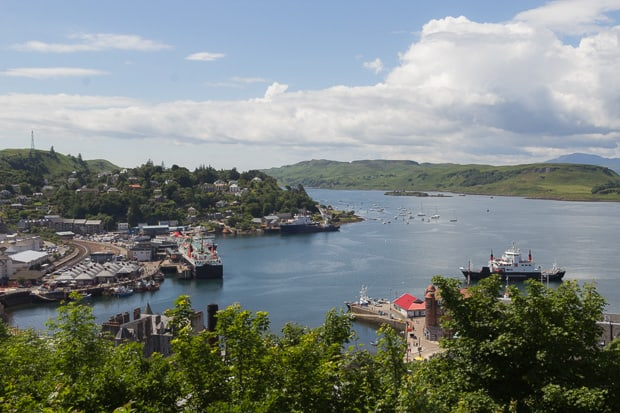 View Of Oban Harbour from McCaigs Tower.