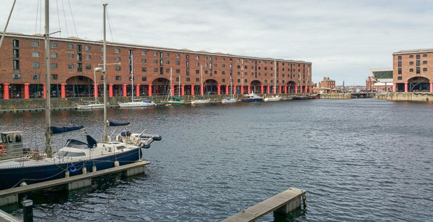 Another view of Albert Dock showinw the redeveloped warehouses.