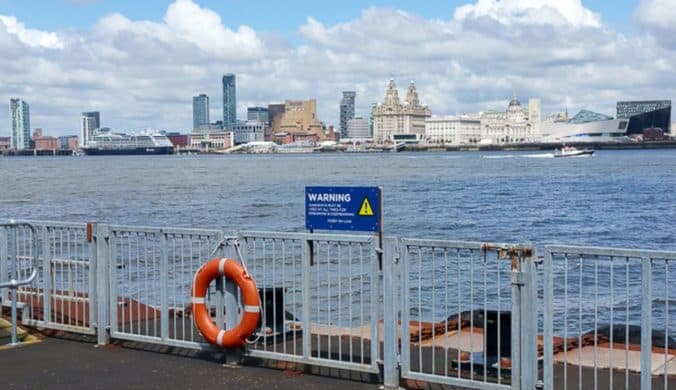 Views of Liverpool from Woodside Ferry Terminal.