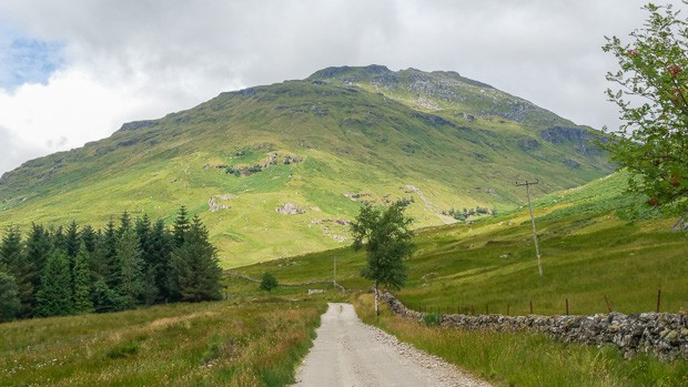 Start of path leading to foot of hill climb to Cruach Ardrain.