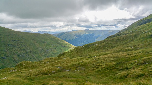 View looking South from the slopes of Cruach Ardrain.