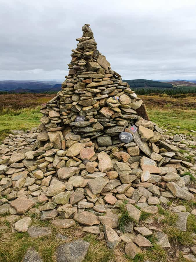 The Cairn on the summit of Minch Moor